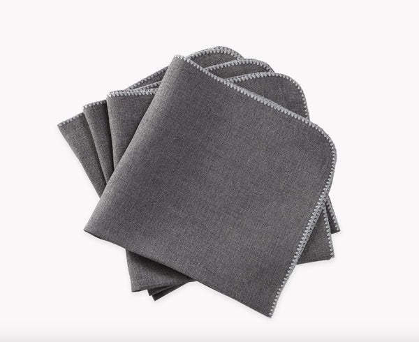 Calypso Charcoal Gray Napkins by Matouk - Fig Linens and Home