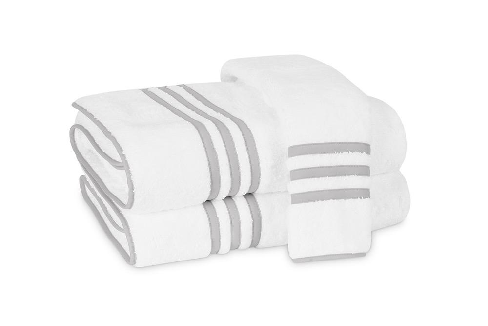 Matouk Newport Bath Towels in Sterling | Fig Linens