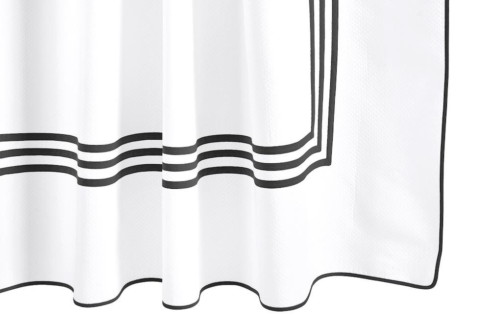 Matouk Newport Black Shower Curtain at Fig Linens