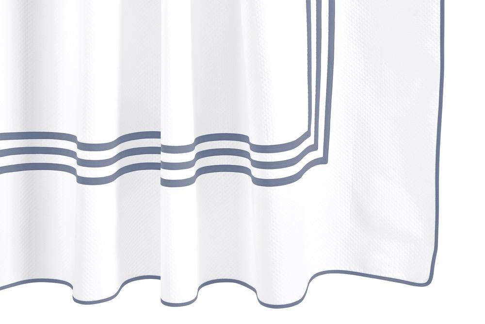 Matouk Newport Sea Shower Curtain at Fig Linens
