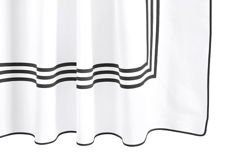 Newport Black Shower Curtain | Matouk at Fig Linens