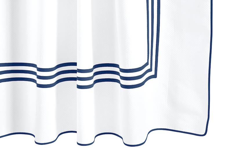 Newport Navy Shower Curtain | Matouk at Fig Linens