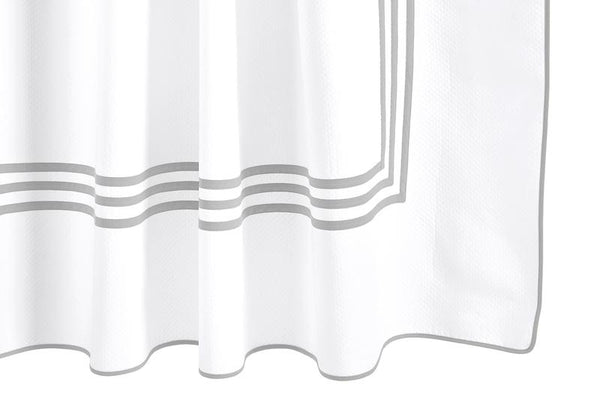 Matouk Newport Shower Curtain in Silver | Fig Linens