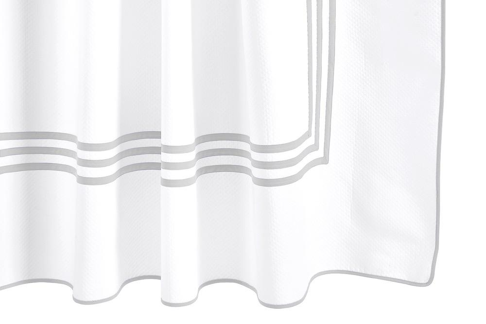Matouk Newport Sterling Shower Curtain at Fig Linens