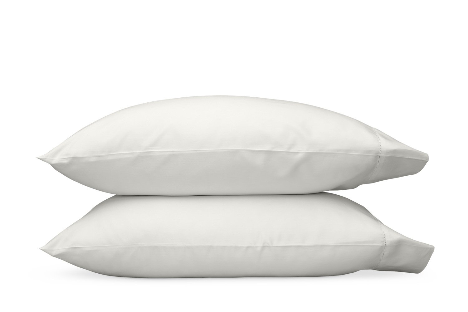 Nocturne Hemstitch Bone Pillowcases | Matouk Sateen Bedding