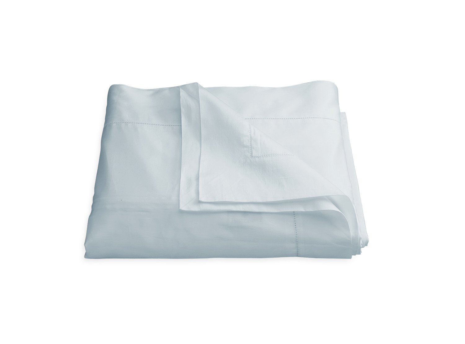 Nocturne Hemstitch Pool Duvet Cover | Matouk Sateen Bedding