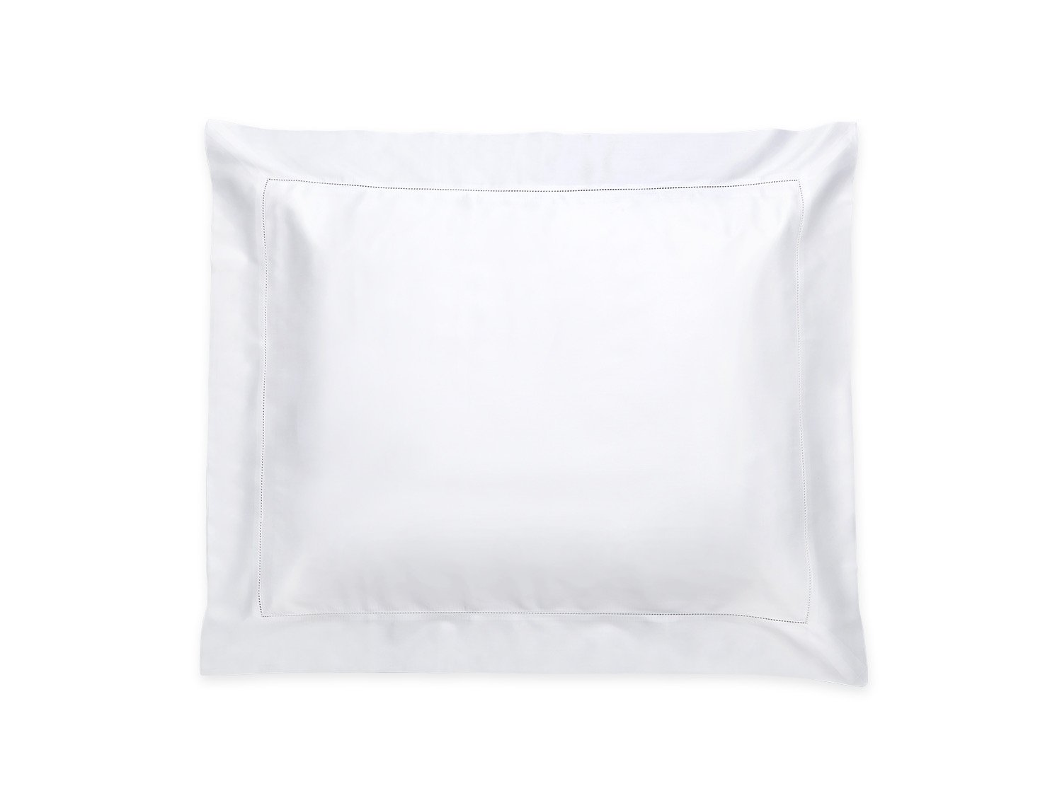 Nocturne Hemstitch White Sham | Matouk Sateen Bedding