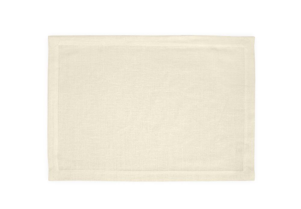 Chamant Ivory Placemats | Matouk at Fig Linens