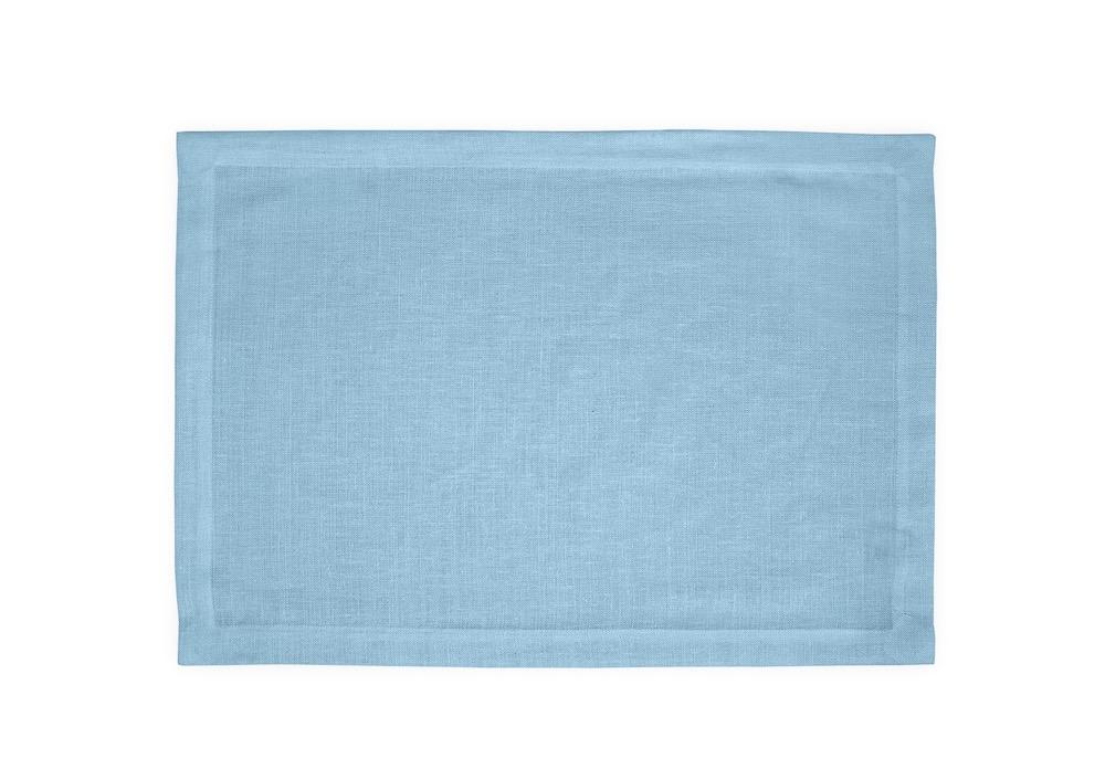 Chamant Sky Blue Placemats | Matouk at Fig Linens