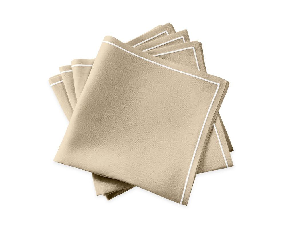 Matouk Napkins | Casual Couture Satin Stitch Napkin in Oat