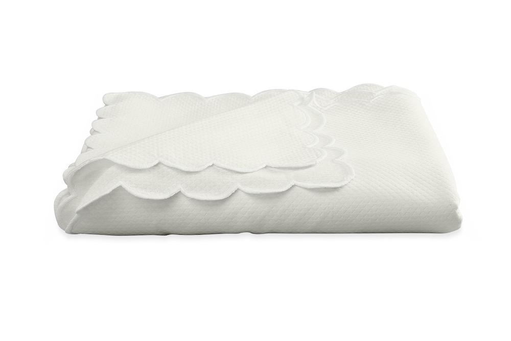 Savannah Gardens Oblong Bone Tablecloth | Matouk at Fig Linens
