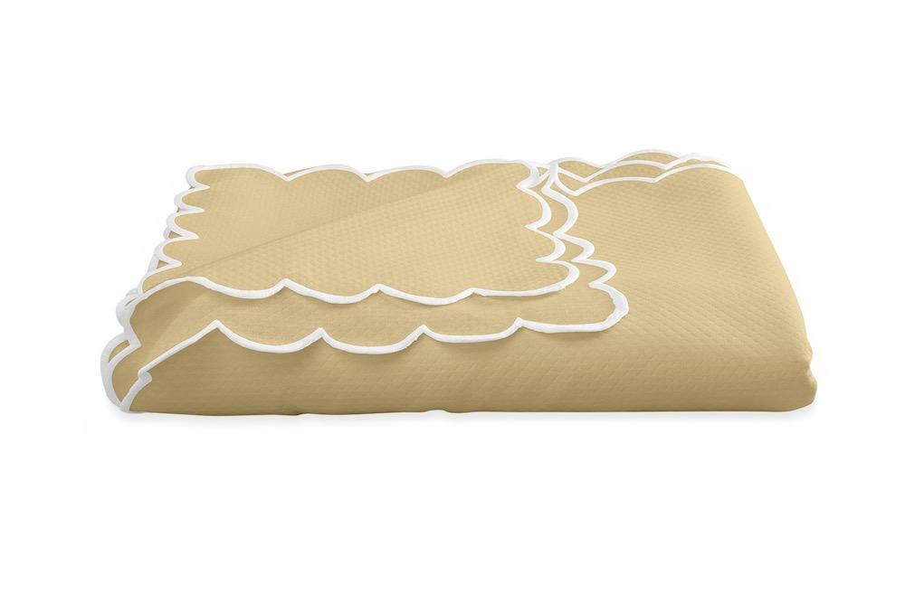 Savannah Gardens Oblong Butter Tablecloth | Matouk at Fig Linens