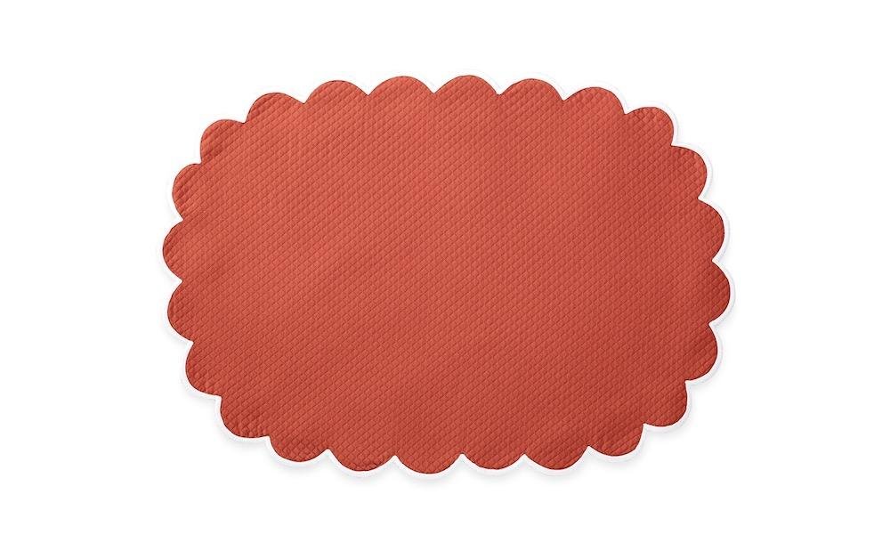 Matouk Savannah Gardens Placemats in Coral