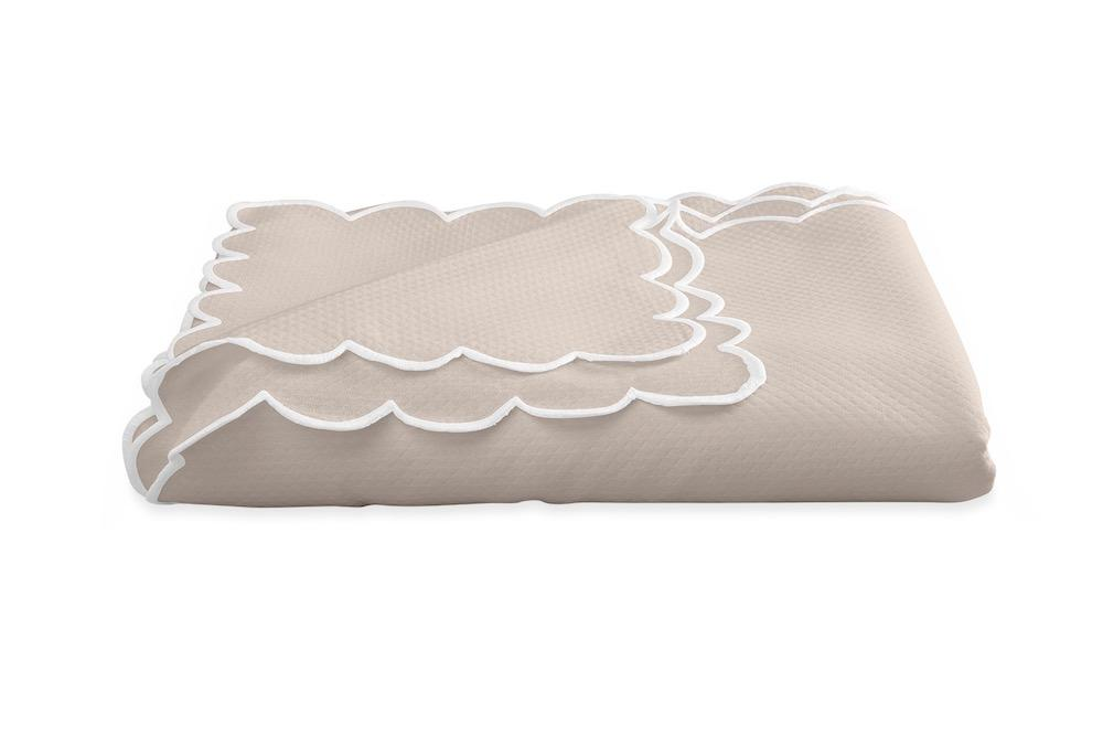 Savannah Gardens Oblong Pink Tablecloth | Matouk at Fig Linens