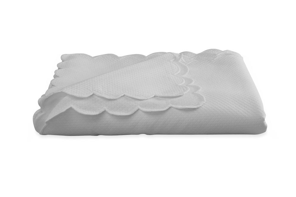 Savannah Gardens Oblong Silver Tablecloth | Matouk at Fig Linens