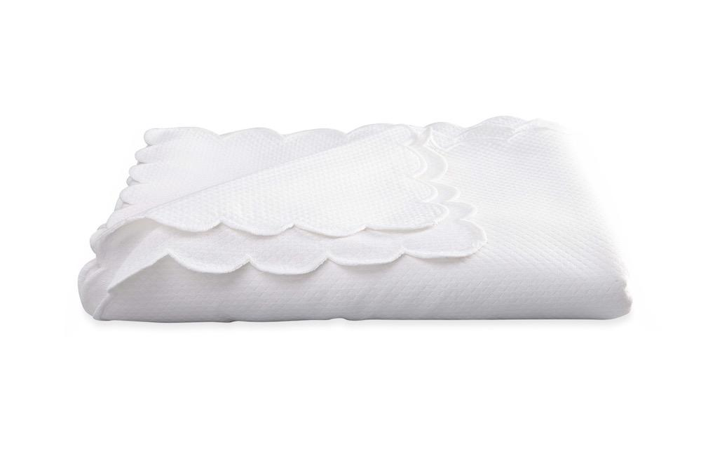 Savannah Gardens Oblong White Tablecloth | Matouk at Fig Linens