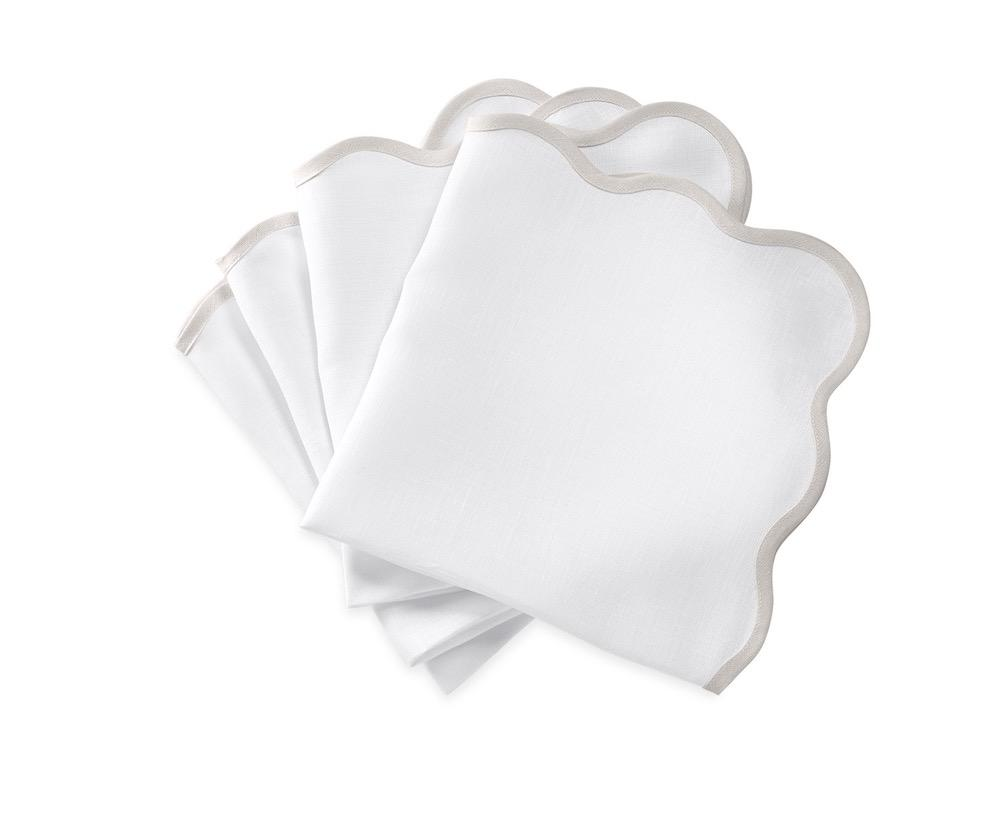 Matouk Napkins | Casual Couture Scallop Napkin in Classic Grey