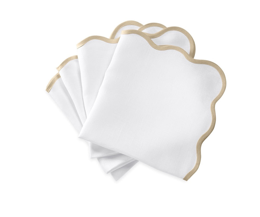 Matouk Napkins | Casual Couture Scallop Napkin in Oat