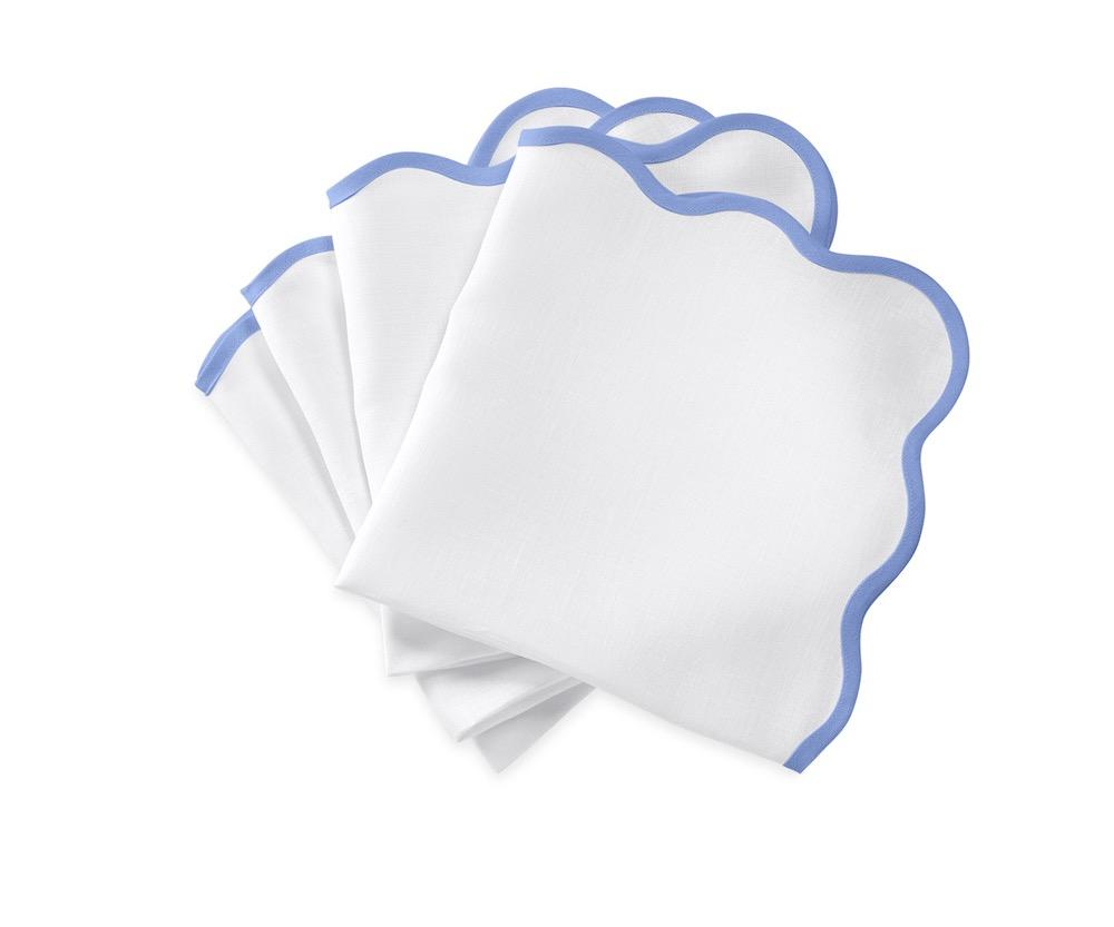 Matouk Napkins | Casual Couture Scallop Napkin in Sky Blue
