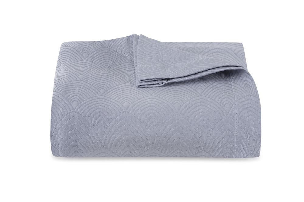 Brocatelle Blue Coverlet by Matouk Schumacher | Fig Linens