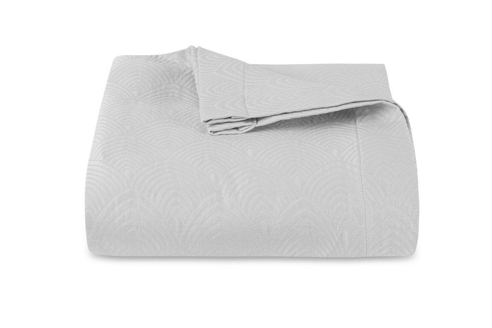 Brocatelle Silver Coverlet by Matouk Schumacher | Fig Linens