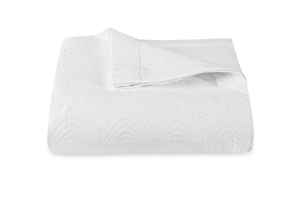 Brocatelle White Coverlet by Matouk Schumacher | Fig Linens