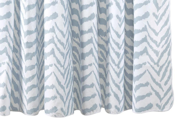Matouk Quincy Hazy Blue Shower Curtain at Fig Linens