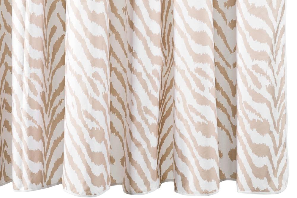 Matouk Quincy Sand Shower Curtain at Fig Linens