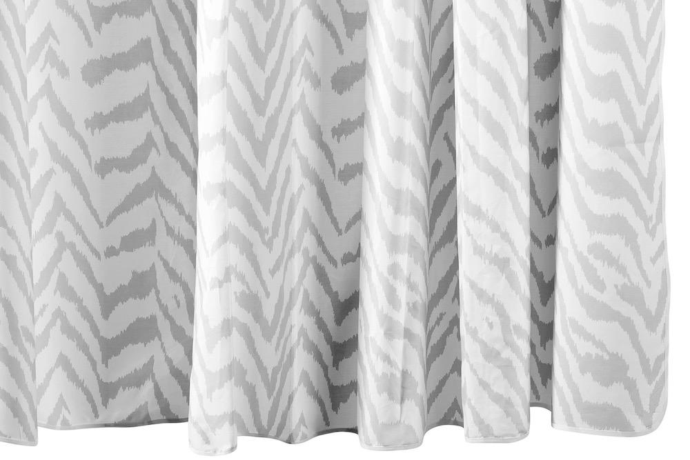 Matouk Quincy Silver Shower Curtain at Fig Linens