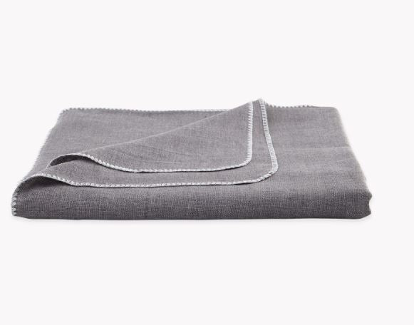 Calypso Charcoal Gray Tablecloths by Matouk - Fig Linens and Home