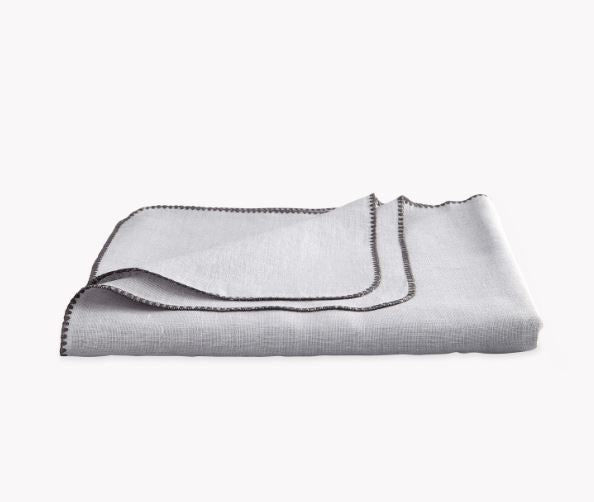 Calypso Silver Gray Tablecloths by Matouk - Fig Linens and Home