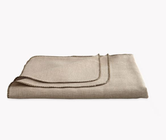 Calypso Stone taupe Tablecloths by Matouk - Fig Linens and Home