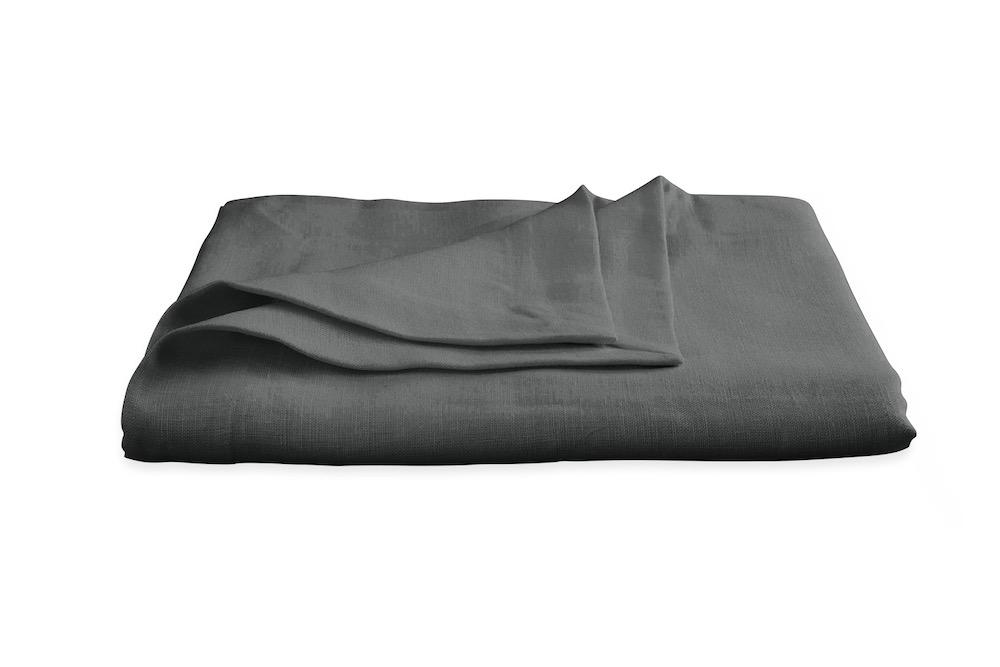 Chamant Charcoal Tablecloth | Matouk at Fig Linens