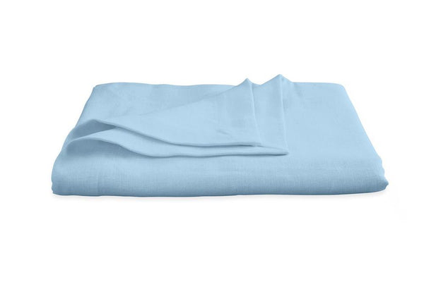 Chamant Sky Blue Round Tablecloth | Matouk at Fig Linens