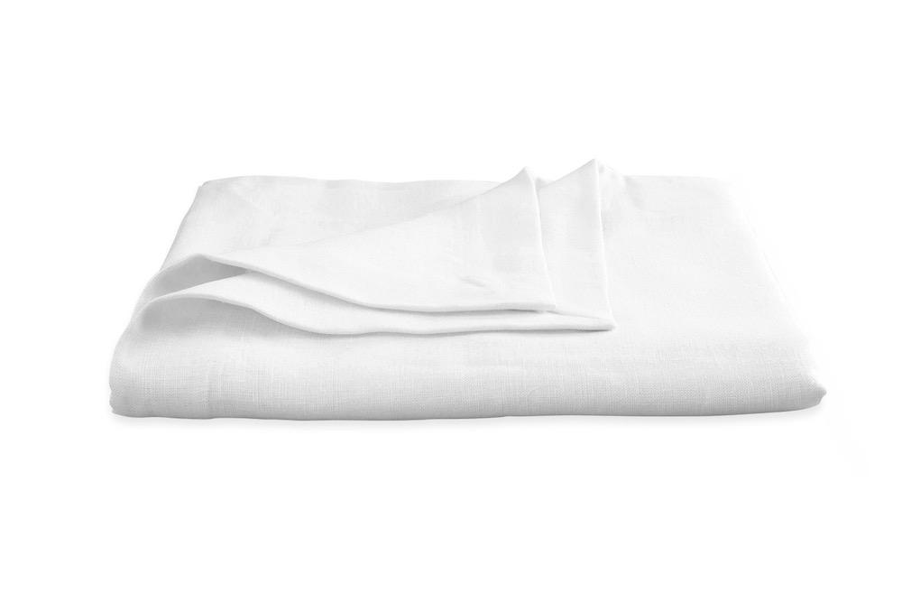 Chamant White Tablecloth | Matouk at Fig Linens