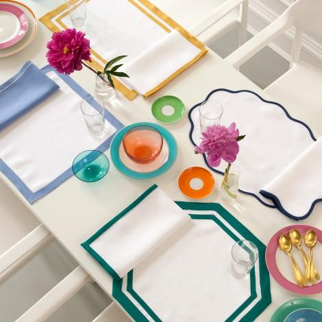 Border Napkins - Matouk Table - Shown with Placemats