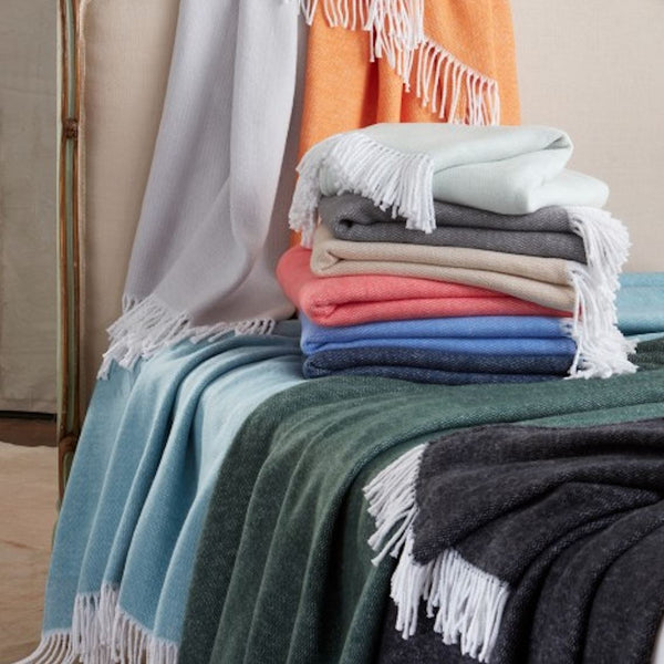 Pezzo Cotton Throws by Matouk at Fig Linens