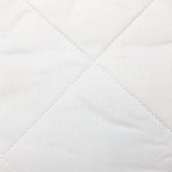 Cotton Mattress Pad - Close up view - quilted