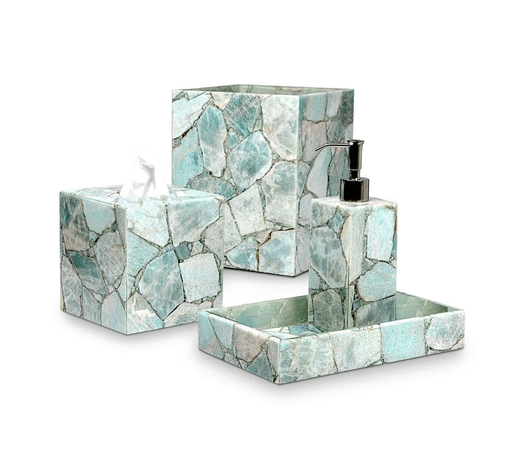 Taj Amazonite Bath Accessories by Mike + Ally at Fig Linens