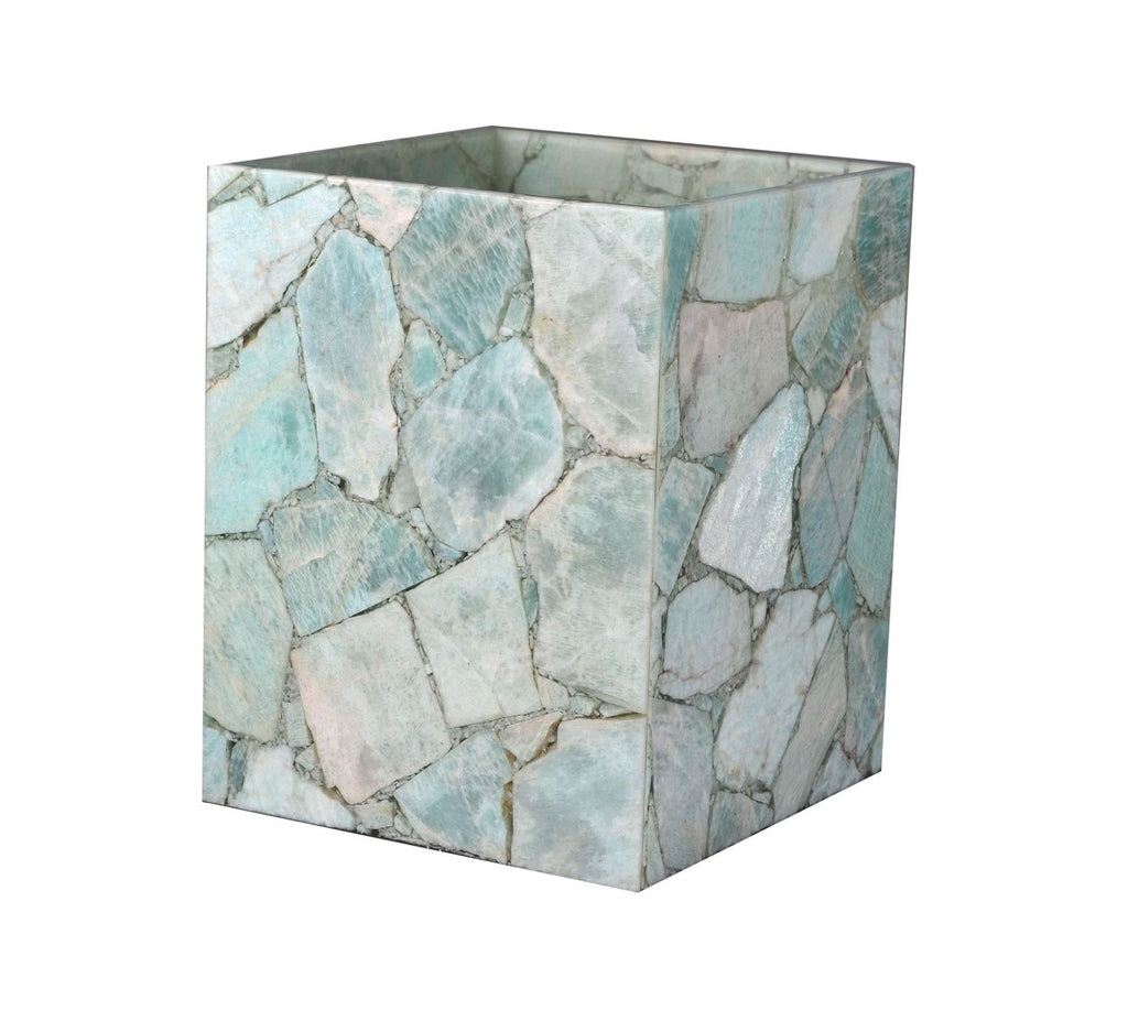 Taj Amazonite Wastebasket by Mike + Ally at Fig Linens