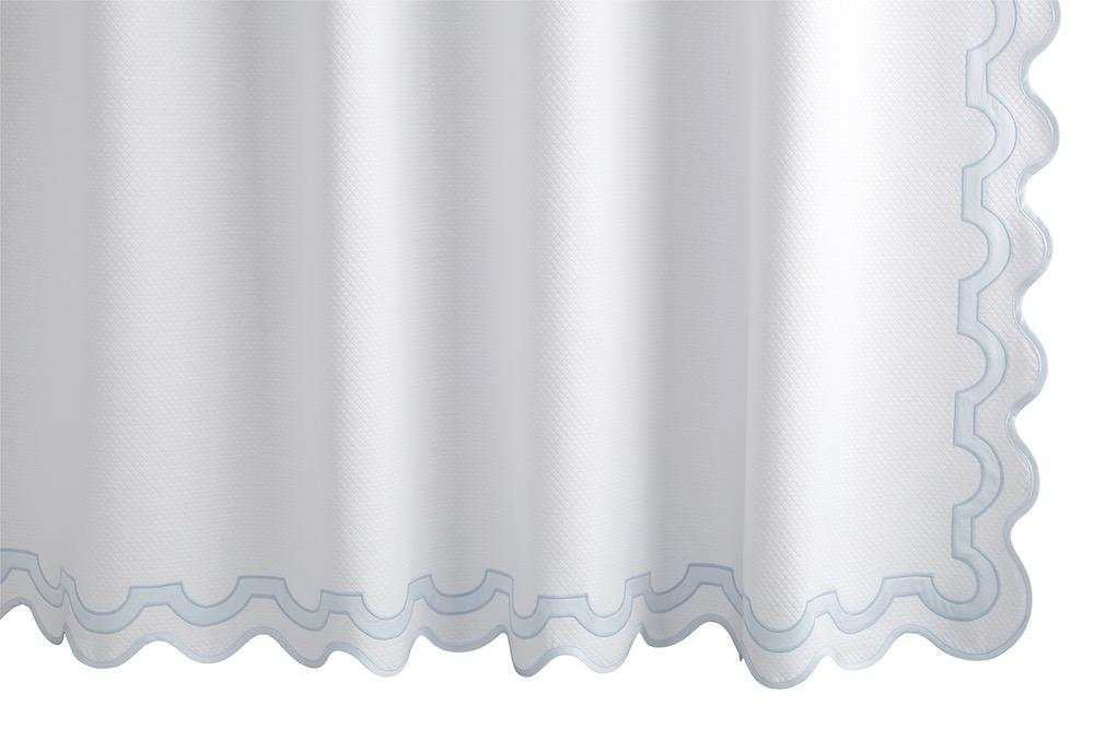 Mirasol Blue Shower Curtain | Matouk at Fig Linens