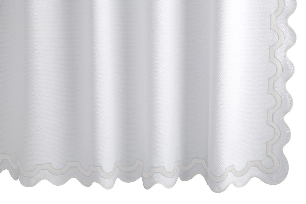 Mirasol Bone Shower Curtain | Matouk at Fig Linens