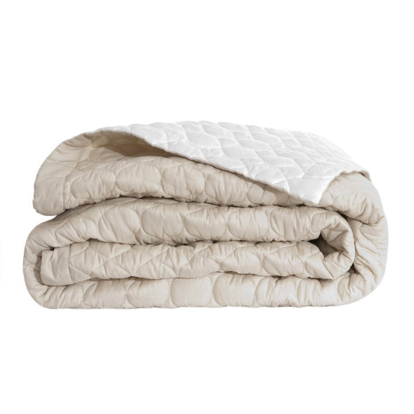 Montaigne Quilted Coverlet in Sand