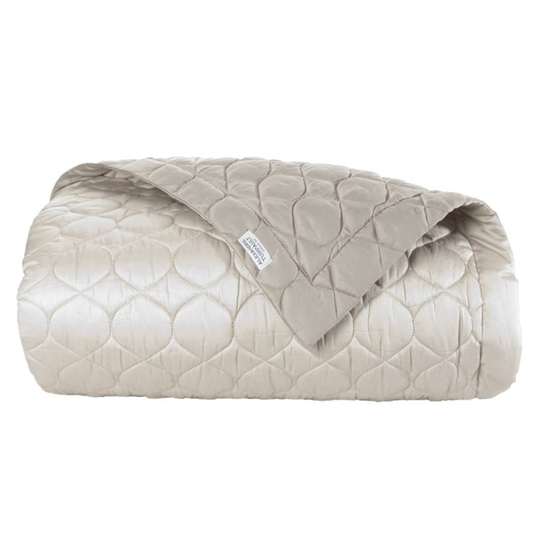 Montaigne Quilted Coverlet in Mink