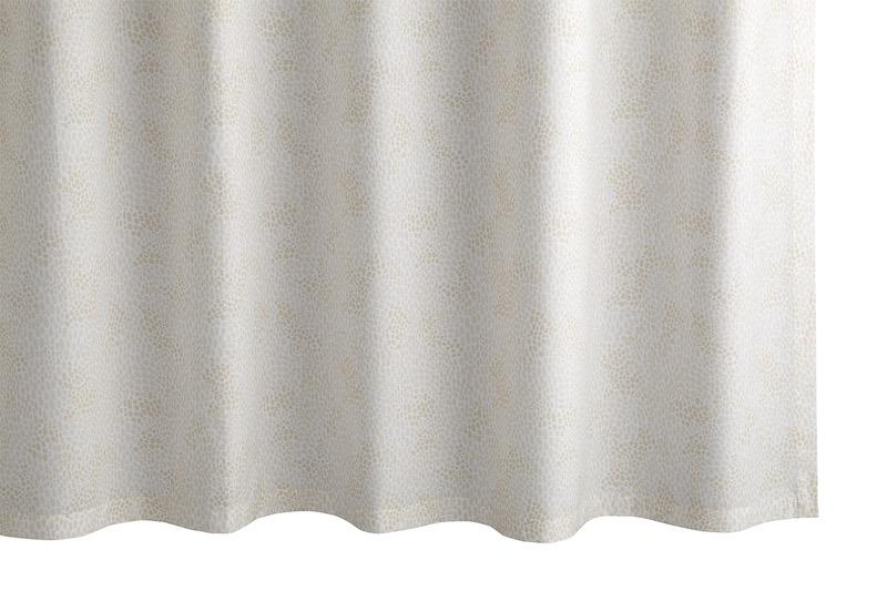 Nikita Champagne Shower Curtain | Matouk at Fig Linens
