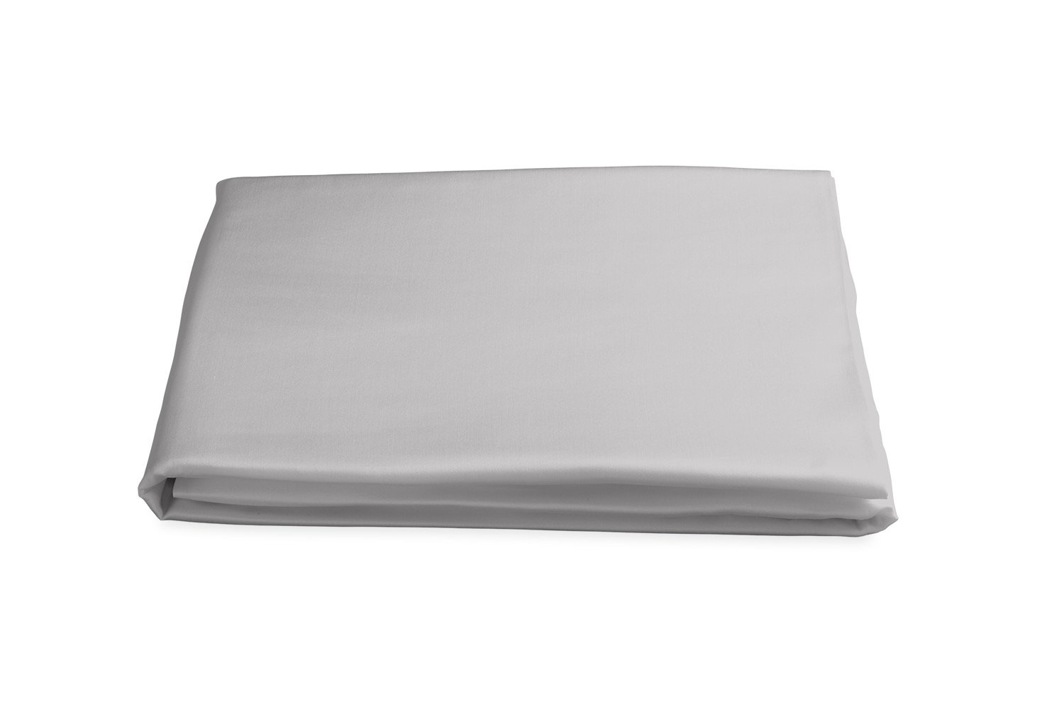 Milano Hemstitch Fitted Sheet in Silver | Matouk at Fig Linens