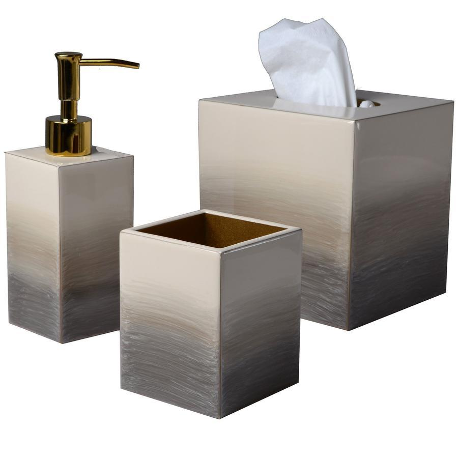 Natural/Gold Ombre Bath Accessories by Mike + Ally