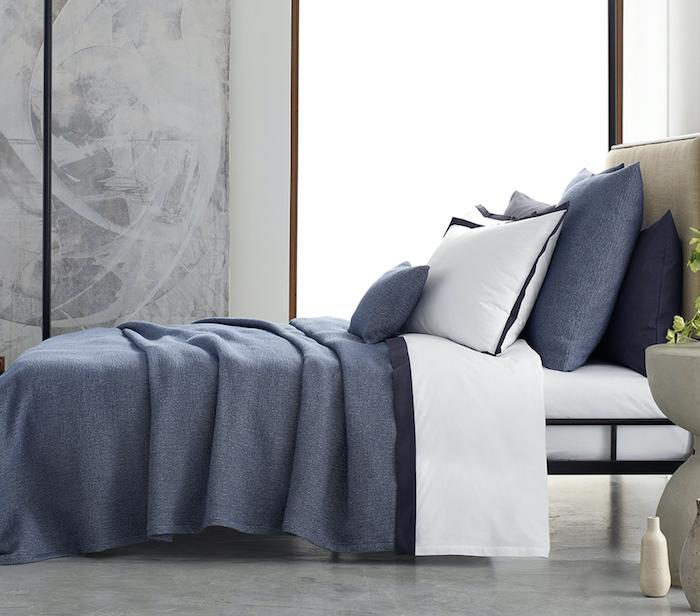 Pacific Lapis Coverlet - Matouk at Fig Linens