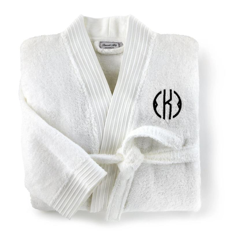 Peacock Alley Bamboo Bath Robe with Monogram