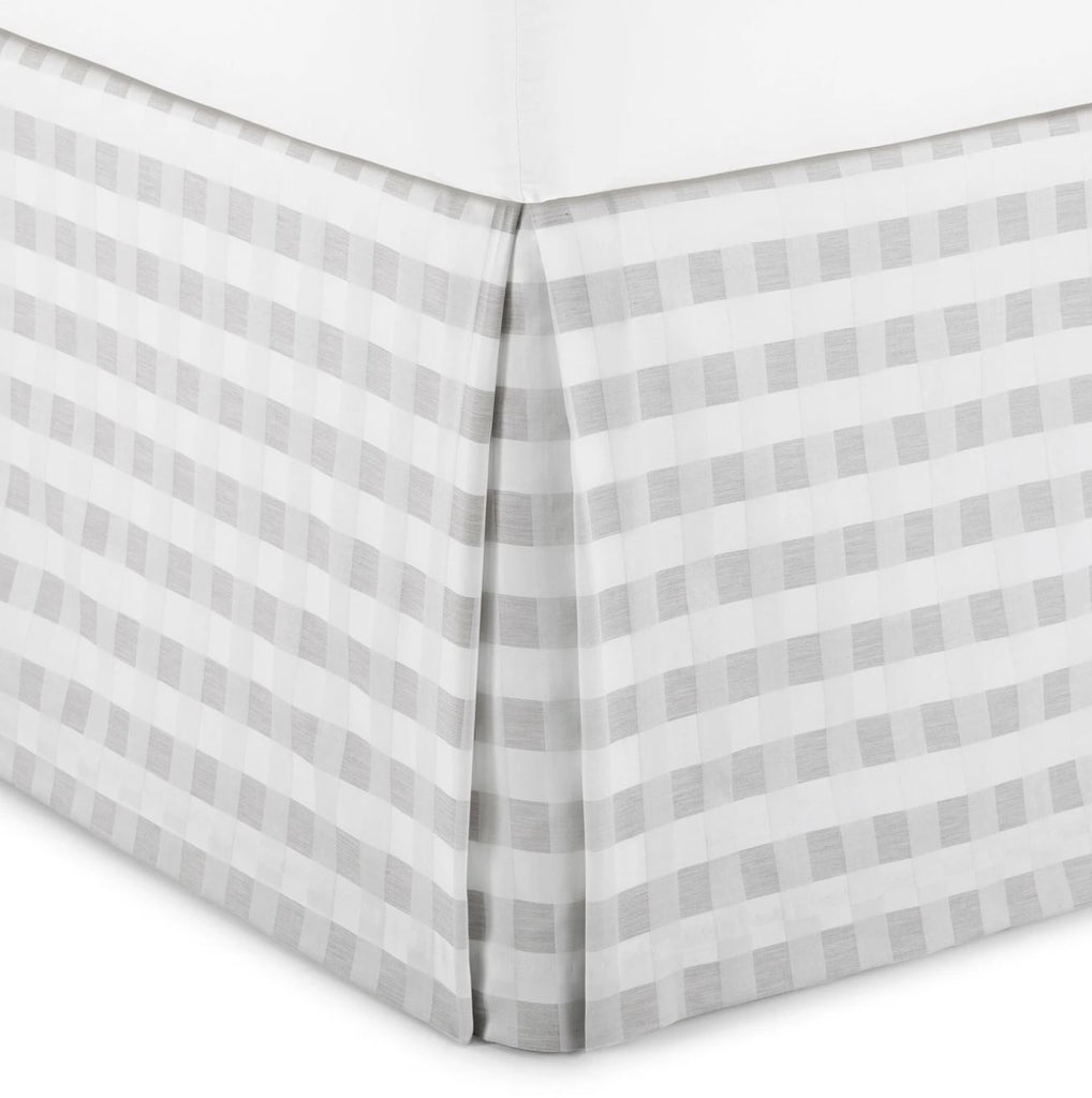 Prescott Pewter Plaid Bedskirt | Peacock Alley at Fig Linens